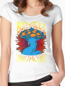 """""""Buy the ticket take the ride"""" Hunter S. Thompson quote original drawing Women's Fitted Scoop T-Shirt"""