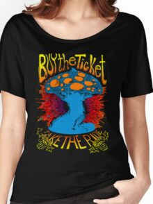 """Buy the ticket take the ride"" Hunter S. Thompson quote original drawing Women's Relaxed Fit T-Shirt"