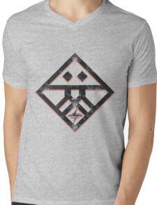 Kiznaiver Corporate Logo - distressed black Mens V-Neck T-Shirt