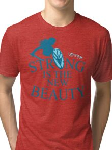 strong is th new beauty - shieldmaiden Tri-blend T-Shirt