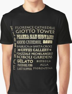 Florence Famous Landmarks Graphic T-Shirt