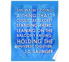 J.D. Salinger Quote - Saphire Poster