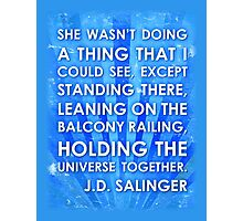 J.D. Salinger Quote - Saphire Photographic Print