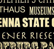 Vienna Famous Landmarks Sticker