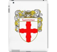 Lawrence Coat of Arms/Family Crest iPad Case/Skin