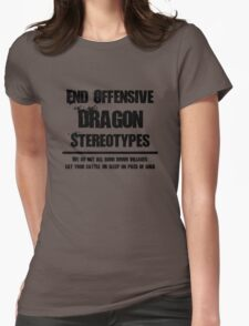 Misunderstood Dragons Womens Fitted T-Shirt