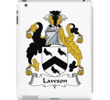Lawson Coat of Arms / Lawson Family Crest iPad Case/Skin