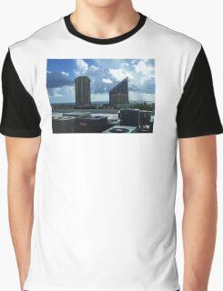 Miami Coast Buildings Graphic T-Shirt