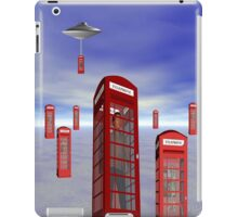 Alien London Phone Box Abduction iPad Case/Skin