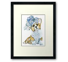 Corgi in a hat Framed Print