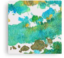 Green Earthy Abstract - Earth Dance - Sharon Cummings Canvas Print