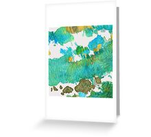Green Earthy Abstract - Earth Dance - Sharon Cummings Greeting Card