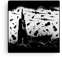Psycho Attack - Black Print Canvas Print
