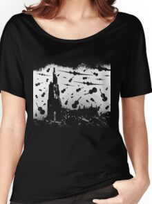 Psycho Attack - White Print Women's Relaxed Fit T-Shirt