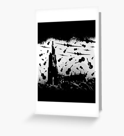Psycho Attack - White Print Greeting Card
