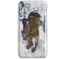 Edvard Munch - Galloping Horse. Munch  iPhone Case/Skin
