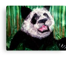 Panda in Bamboo Canvas Print