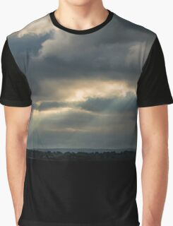 Moody Cloudscape With Fingers of God Graphic T-Shirt