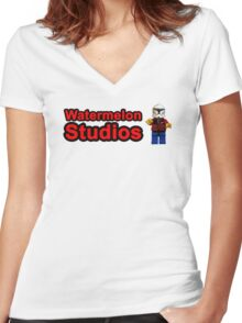 Watermelon Studios Women's Fitted V-Neck T-Shirt