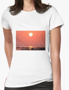 Sunset Bay  Womens Fitted T-Shirt