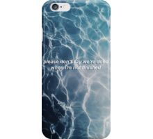 XX lyrics iPhone Case/Skin