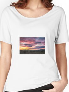 Technicolor Sunset Women's Relaxed Fit T-Shirt
