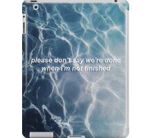 XX lyrics iPad Case/Skin