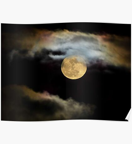 Moonlit Clouds Poster
