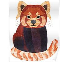 R is for Red Panda Poster