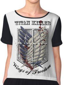 Titan Killer Wings of Freedom Chiffon Top