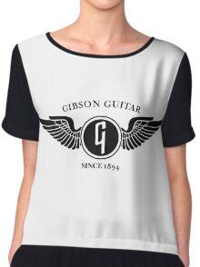 flying gibson logo Chiffon Top