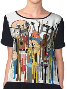 melting faces instruments Chiffon Top
