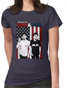 Dan and Phil Tour Womens Fitted T-Shirt