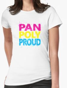 Pan Poly Proud - Flag Colors Womens Fitted T-Shirt