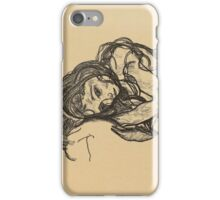 Egon Schiele -  Girl.  Schiele - woman portrait. iPhone Case/Skin