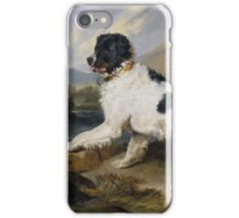 Edwin Landseer - Lion A Newfoundland Dog 1824.  Landseer iPhone Case/Skin