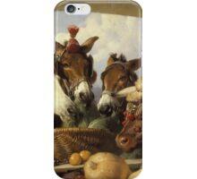 Edwin Landseer - A Group Of Animals, Geneva 1851.  Landseer  iPhone Case/Skin