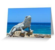 Lizard King Isla Mujeres Greeting Card