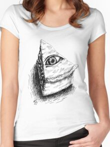 The All Seeing Pie Women's Fitted Scoop T-Shirt
