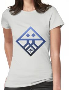 Kiznaiver Corporate Logo - blue Womens Fitted T-Shirt