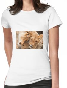 Lion and cub  Womens Fitted T-Shirt