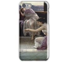 Edward Poynter - When The World Was Young 1891. Poynter - woman portrait. iPhone Case/Skin