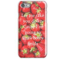 Quote Strawberry iPhone Case/Skin