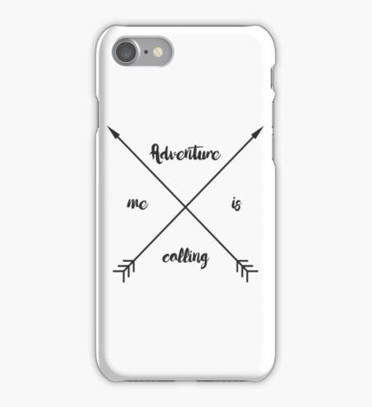 Adventure is calling me graphic print iPhone Case/Skin