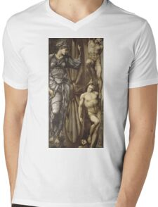 Edward Burne-Jones  - The Wheel Of Fortune 1883 . Burne-Jones  - people portrait. Mens V-Neck T-Shirt