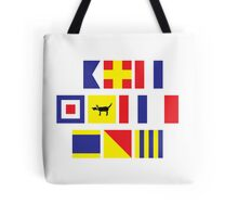Dog-on-Nautical Tote Bag