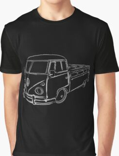 Procreate VW Bus Full White Graphic T-Shirt