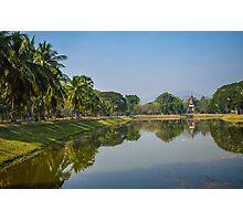 Perfect symmetry at Sukhothai Historical Park Photographic Print