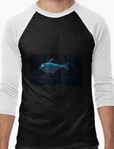 Natural History Fish Histoire naturelle des poissons Georges V1 V2 Cuvier 1849 054 Inverted Men's Baseball ¾ T-Shirt