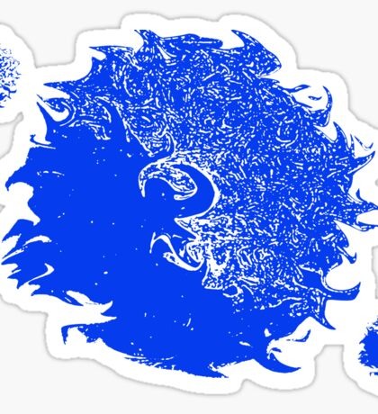 Abstract Blue & White 5516 Sticker